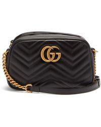 Gucci GG Marmont Small Quilted-leather Cross-body Bag - Black