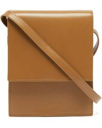 Lemaire Small Leather Satchel Bag - Brown