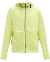 5 MONCLER CRAIG GREEN Zipped Cotton And Ripstop Hooded Sweatshirt - Yellow