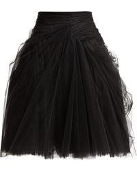 Prada - Tulle Layered Mini Skirt - Lyst