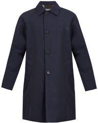 Prada Point-collar Raglan Overcoat - Blue