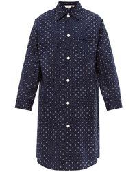 Derek Rose Nelson Geometric Cotton-poplin Pyjama Shirt - Blue