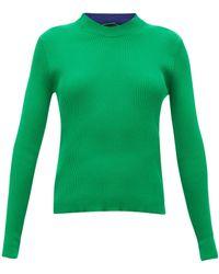 La Fetiche Albini Ribbed-cotton Sweater - Green