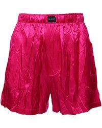 Balenciaga テクスチャードサテン ショートパンツ - ピンク