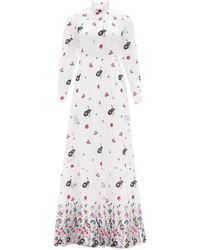 Erdem Clementine Floral-embroidered Organza Gown - Multicolor