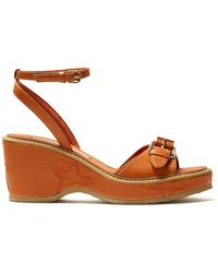 Stella McCartney - Buckle-strap Faux-leather Sandals - Lyst