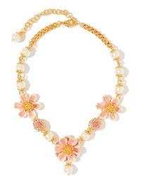 Dolce & Gabbana Collier en émail et ornements façon perle - Métallisé