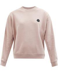 Moncler コットンスウェットシャツ - ピンク