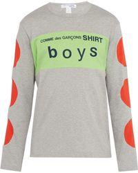 Comme des Garçons T-shirt en coton à logo imprimé Boys - Gris