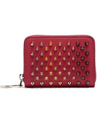 Christian Louboutin Panettone Zip Around Leather Coin Purse - Pink