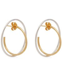 Charlotte Chesnais - Saturn 18kt Gold And Sterling-silver Earrings - Lyst