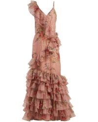 Johanna Ortiz - The Place Of Silent Floral-print Silk Gown - Lyst