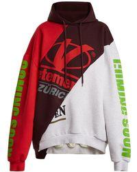 Vetements - Deconstructed Hooded Sweatshirt - Lyst