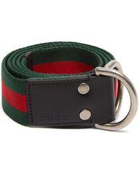 2bfb2da81ef Lyst - Gucci Gg-buckle Web-canvas Belt in Green for Men