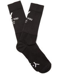 Y-3 - Slogan-print Stretch-knit Socks - Lyst