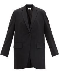 The Row Veste de costume à boutonnage simple Obine - Bleu