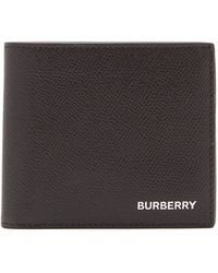 Burberry Grainy Leather International Bifold Coin Wallet - Black