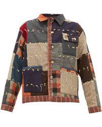 Bode パッチワーク ウールシングルジャケット - マルチカラー