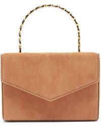 AMINA MUADDI Pernille Crystal-handle Mini Suede Box Bag - Multicolour
