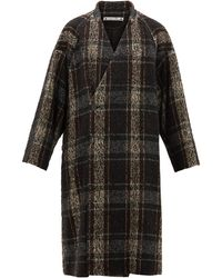 Sasquatchfabrix Wool-tweed Wrap Coat - Black