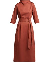 Albus Lumen Nina Belted Cotton Dress - Red