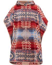 Pendleton Canyonlands Cotton Jacquard Poncho Towel - Red