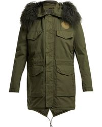 Mr & Mrs Italy - Shearling Lined Cotton Parka - Lyst