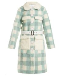 Saks Potts - Lunis Checked Shearling Coat - Lyst