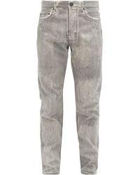 John Elliott The Daze Bleached-denim Straight-leg Jeans - Gray