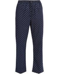 Derek Rose - Nelson Polka Dot Cotton Pyjama Trousers - Lyst