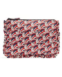 LaDoubleJ - Graphic-print Ruffle-trimmed Pouch - Lyst