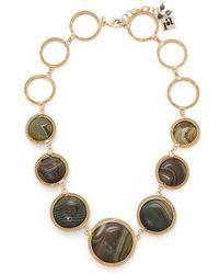 Rosantica By Michela Panero - Scarabeo Agate-drop Necklace - Lyst