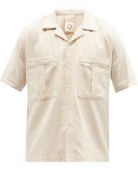 Marrakshi Life Cuban-collar Cotton-canvas Shirt - Natural
