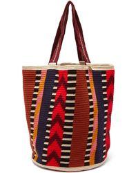 Guanabana Harare Stripe-woven Tote Bag - Multicolour