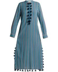 Figue - Paolina Striped Tassel Trimmed Dress - Lyst