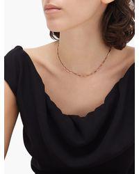 Dezso by Sara Beltran Enamel & 18kt Rose Gold Necklace - Metallic