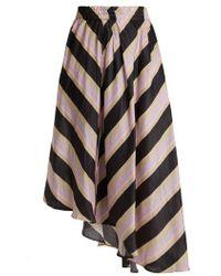 Apiece Apart - Turkanna Striped Silk And Linen-blend Skirt - Lyst