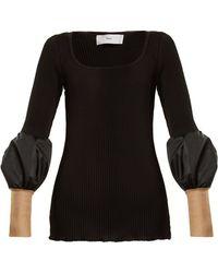Toga - Teleco Mesh-cuff Ribbed-knit Jumper - Lyst