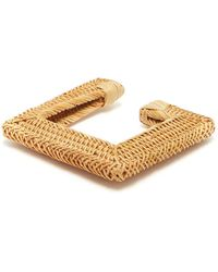 Cult Gaia - Rosa Square Woven-straw Bangle - Lyst