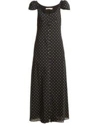 Brock Collection - Polka Dot Print Button Down Silk Dress - Lyst