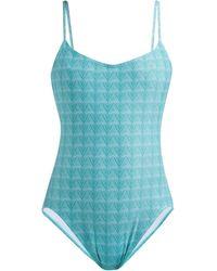Thorsun Billy Triangle-print Swimsuit - Blue