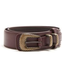 Bottega Veneta | Layered Leather Belt | Lyst