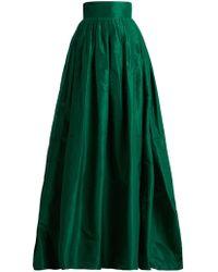 Carolina Herrera - High Rise Silk Taffeta Ball Gown Skirt - Lyst
