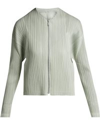 Pleats Please Issey Miyake - Collarless Pleated Jacket - Lyst