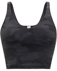 lululemon athletica Align Camo-print Jersey Cropped Tank Top - Black