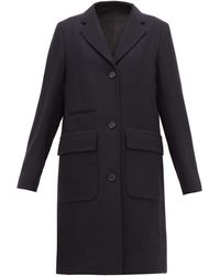 Margaret Howell Soft City Single-breasted Wool Coat - Blue