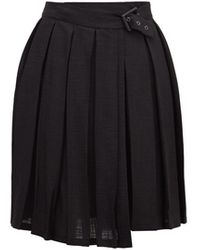 ART SCHOOL プリーツ ミニスカート - ブラック