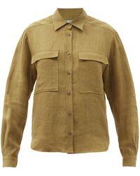 Three Graces London Willow Chest-pocket Linen Shirt - Multicolour