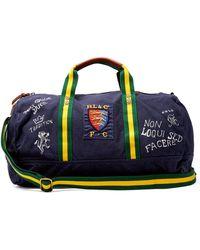 Polo Ralph Lauren - Crest Cotton-canvas Weekend Bag - Lyst
