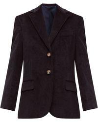 Acne Studios Jantine Oversized Cotton-corduroy Jacket - Black
